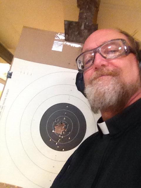 """Father Edward Fride said one woman told him she was afraid of guns. His response? """"Well, how do you feel about rape?"""" (Photo: Facebook)"""