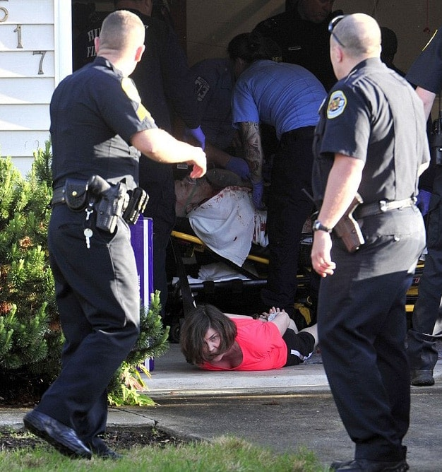 At some point, Lisa was handcuffed and lying face down on the ground after police arrived. (Photo: AL.com)