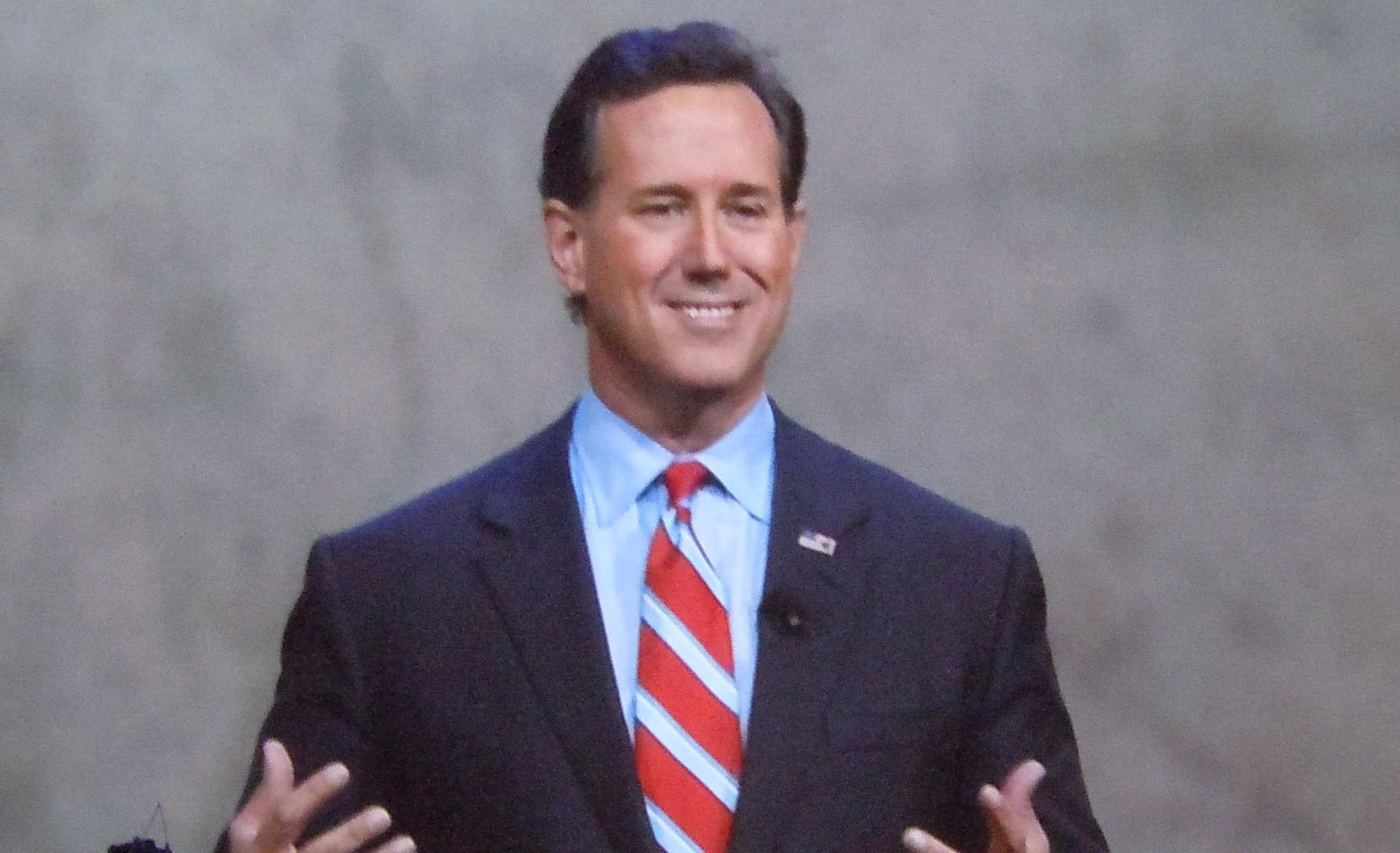 Republican presidential candidate Rick Santorum spoke at the NRA's annual conference in Nashville, Tennessee, on Friday. (Photo: Chris Eger/Guns.com)