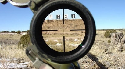 Using a Mil Dot reticle for range estimation