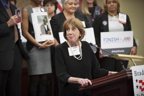 Sarah Brady passed Friday at age 73. (Photo: Brady Campaign)