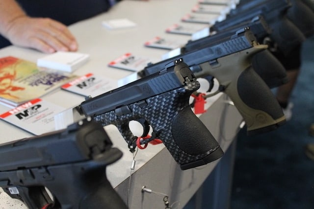 Smith & Wesson M&P pistols at the NRA-AM 2015. (Photo: Jacki Billings)
