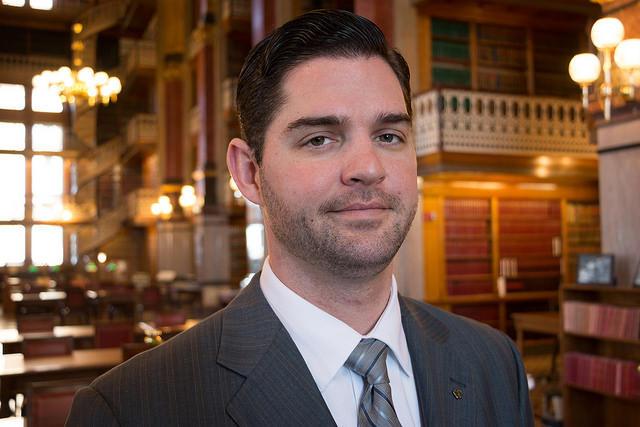 Rep. Matt Windschitl, R-Missouri Valley, is pushing to restore reforms to a gun bill that the Iowa Senate omitted, and the clock is ticking. (Photo: John Pemble/Iowa Public Radio)