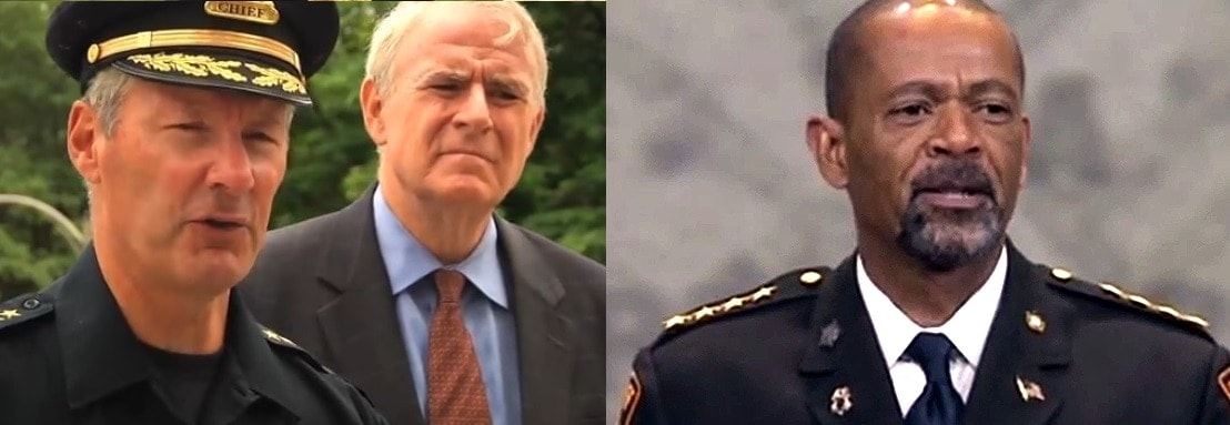 Milwaukee Police Chief Edward Flynn and Mayor Tom Barrett have become embroiled in a war of words with Milwaukee County Sheriff David Clarke over gun violence and gun owners. (Photo: Composite of AP/Guns.com images)