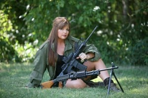 Jan Morgan says she doesn't mess around with safety and if Muslims make her range unsafe, they have no business being there. (Photo: Jan Morgan Media)