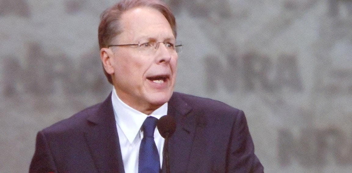 National Rifle Association Executive Vice President Wayne LaPierre focused on Hillary Clinton at the opening of the NRA's Leadership Forum Friday