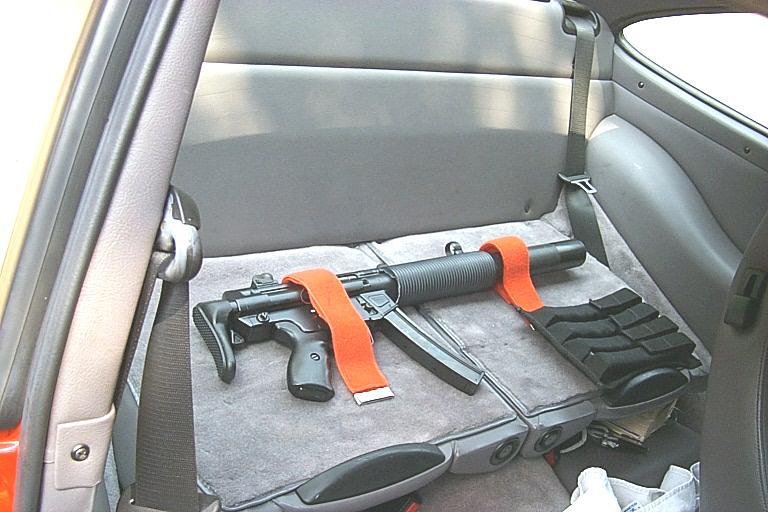 Some hidden, some hidden not well. Guns in vehicles.