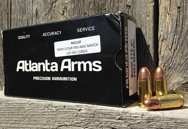 Atlanta Arms 9mm 115 grain FMJ