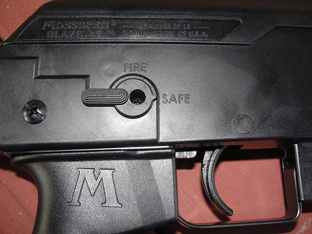 AR safety blaze 47 semi-automatic rifle
