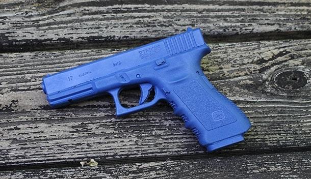 Glock 17 blue training pistol
