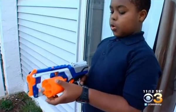 The child said he had no intentions of hurting anyone, he just simply forgot the foam dart was in his pocket. (Photo: CBS)