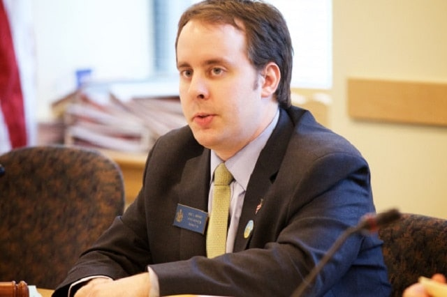 Sen. Eric Brakey, R-Auburn saw his bill to make Maine the 7th member of the constitutional carry club pass with bipartisan support Thursday. (Photo: Bangor Daily News)