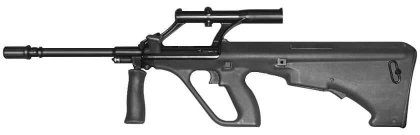 Some 1,00 Steyr rifles, mostly AUGs such as the above, are on the list