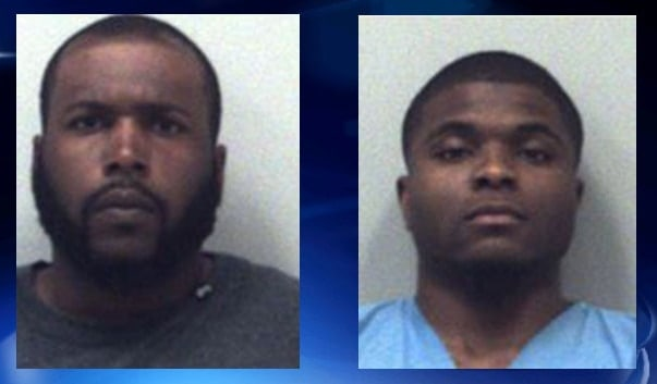 Saveion Wylie Bush (left) and John Michael Bush (right) are now charged with murder after their accomplice was shot and killed while the group was in commission of a felony. (Photo: WSB-TV)
