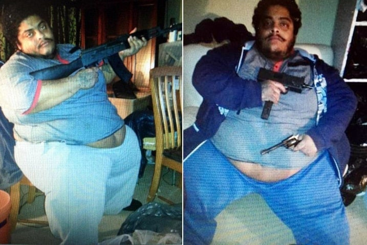 """""""Wobbles"""" appears to have a whole lot of tattoos, but not too much trigger discipline. (Photo: ABC)"""