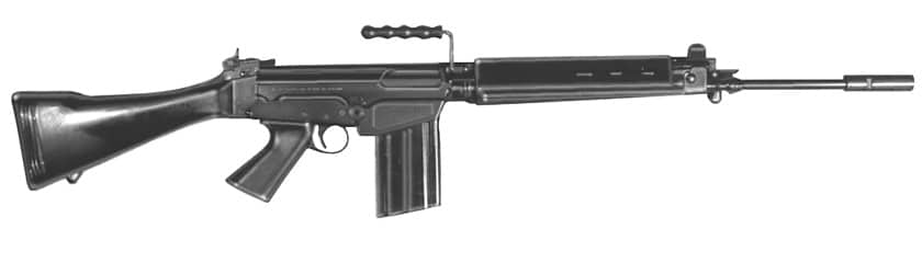 The FN FAL, big brother of the FNC in 7.62mm