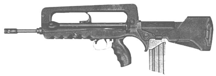 The MAS223, a semi auto FAMAS rifle. 11 Are on the DOJ list