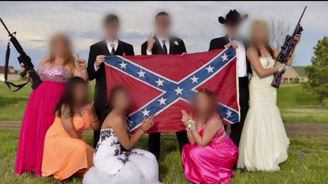 Some say the photo borders racism, but others support the teens' right to take the photo. (Photo: Fox 31)