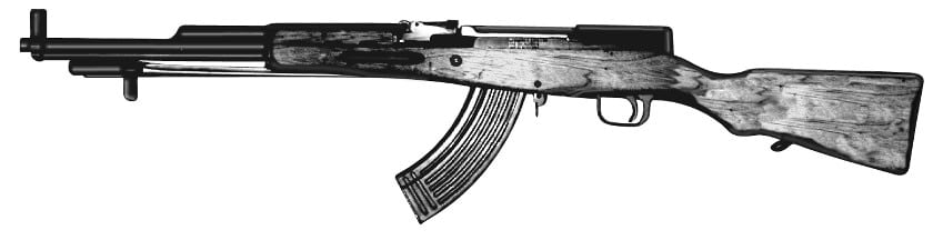 When an SKS gets a detachable magazine in California, its illegal, such as this M series. There are 3,000 such guns on the DOJ registry