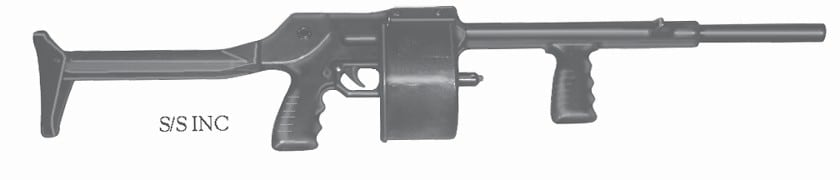 Like the Striker, Streetsweeper shotguns are few and far between in California
