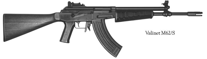 The Finnish Valmet, based on the AK47, is banned in California