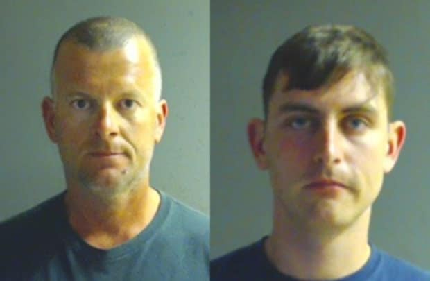 LSU police arrested late night open carriers Andrew Edwin Watts Jr., orange, and Jonathan David Klein, even though they were not on campus Tuesday night. (Photo: East Baton Rouge Parish Prison)