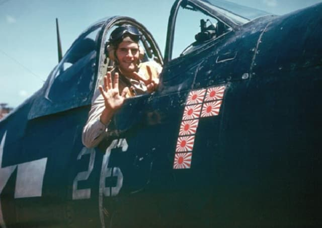 O'Keefe tallied up 7 confirmed aerial victories all in the same week in 1945. (Photo: O'Keefe collection)