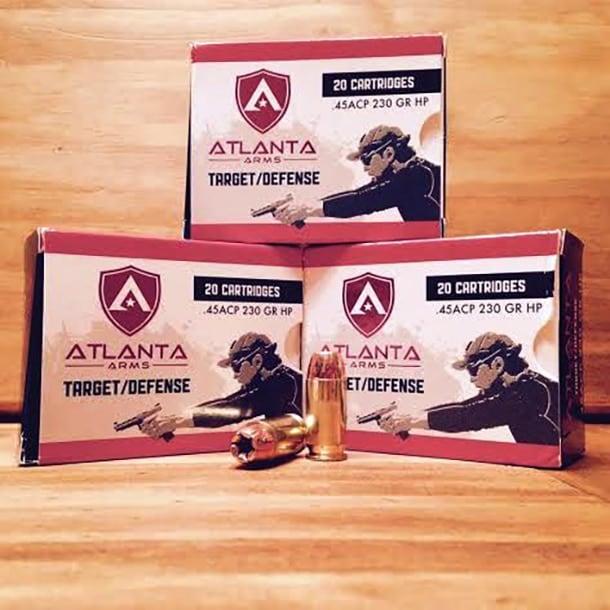 Atlanta Arms .45 ACP boxes.