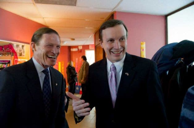 Connecticut Democrats Chris Murphy and Richard Blumenthal would like to expand their state's permit to purchase laws coast to coast. (Photo: Keelin Daly/Stamford Advocate)
