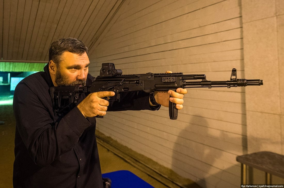 The AK-12. Test firing these must be a hard job, but Ivan has to do it.