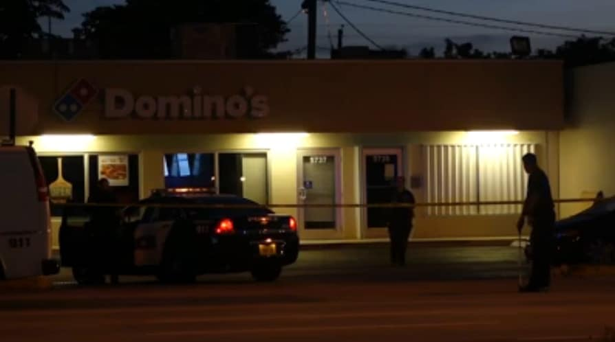 The restaurant had closed just before 1:00 a.m. when the attempted robbery occurred in the parking lot. (Photo: NBC)