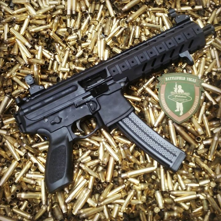 The Sig MPX, also known as the KF5 on Advanced Warfare and also featured on Battlefield Hardline.
