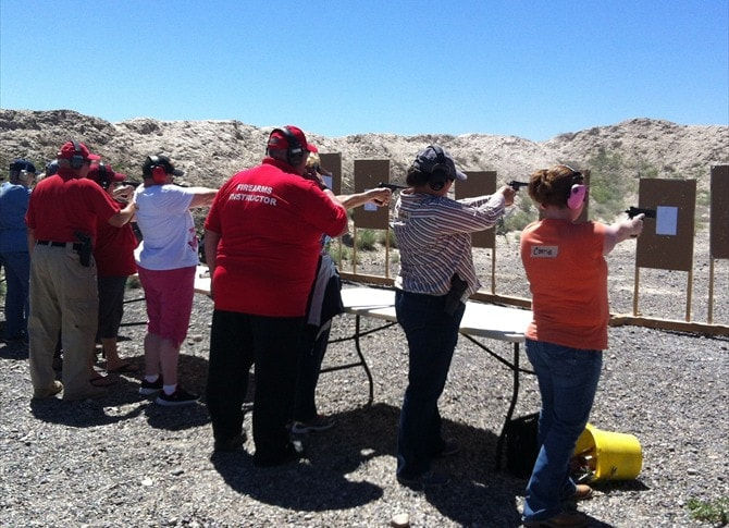 Instructors said the ultimate goal was to have each woman feeling comfortable shooting her own handgun. (Photo: KPVI)