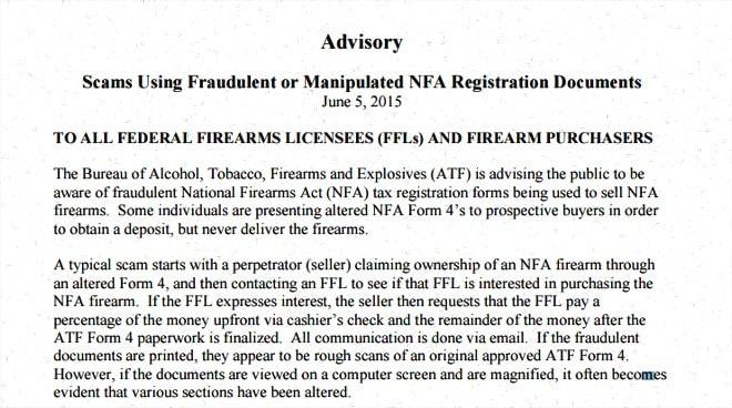 ATF advisory.