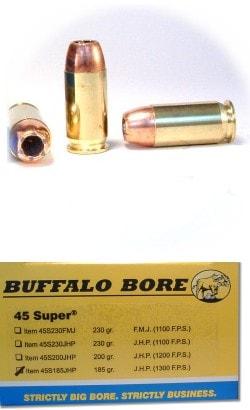 ballistics by the inch .45 super buffalo bore