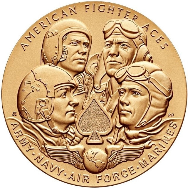 The Congressional Gold Medal authorized for fighter aces last year. (Photo: Mint.gov)