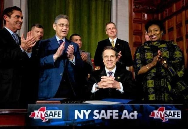 """It was estimated that as many as a million firearms were classified as """"assault weapons"""" under the 2013 NY SAFE Act, yet two years later less than 45,000 are registered. (Photo: AP)"""