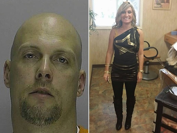 Michael Eitel, 45, is wanted in the stabbing death of Carol Bowne, killed at her home last week while she waited for permission from New Jersey authorities to buy a firearm. (Photos: composite via NJ.com)