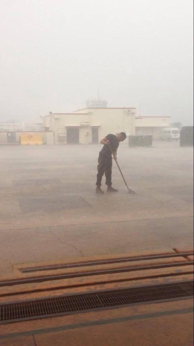 Moppin the rain