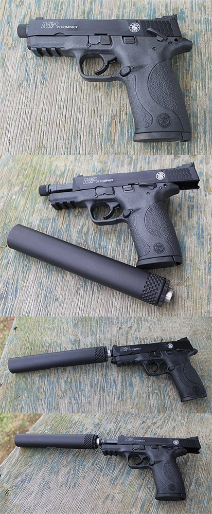 Smith and Wesson M&P22 Compact suppressor-ready