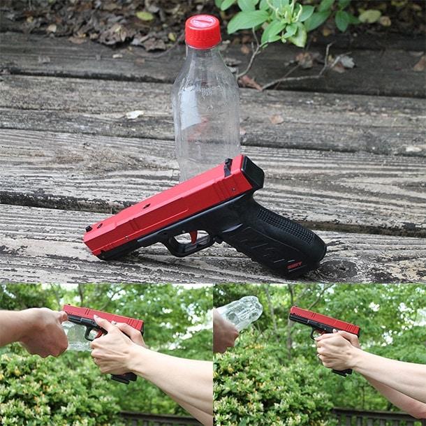 water bottle drill pistol grip
