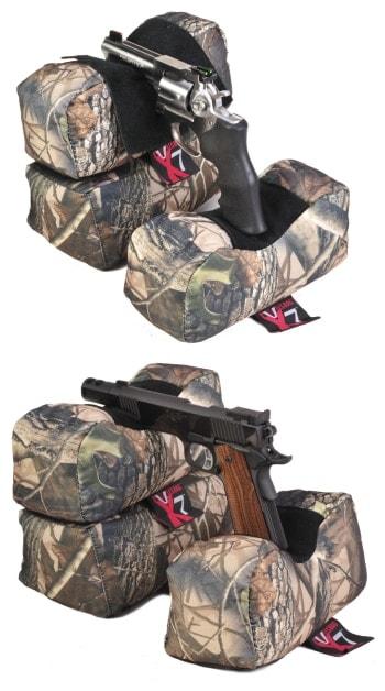 The X7 also sets up as a handgun/revolver rest.