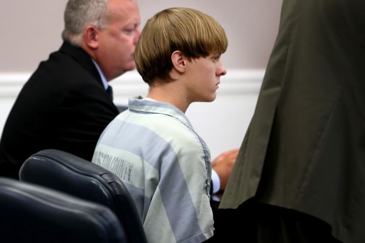 Dylann Roof appears at a court hearing in Charleston, S.C., on July 16. (Grace Beahm/Post and Courier via AP/Pool)