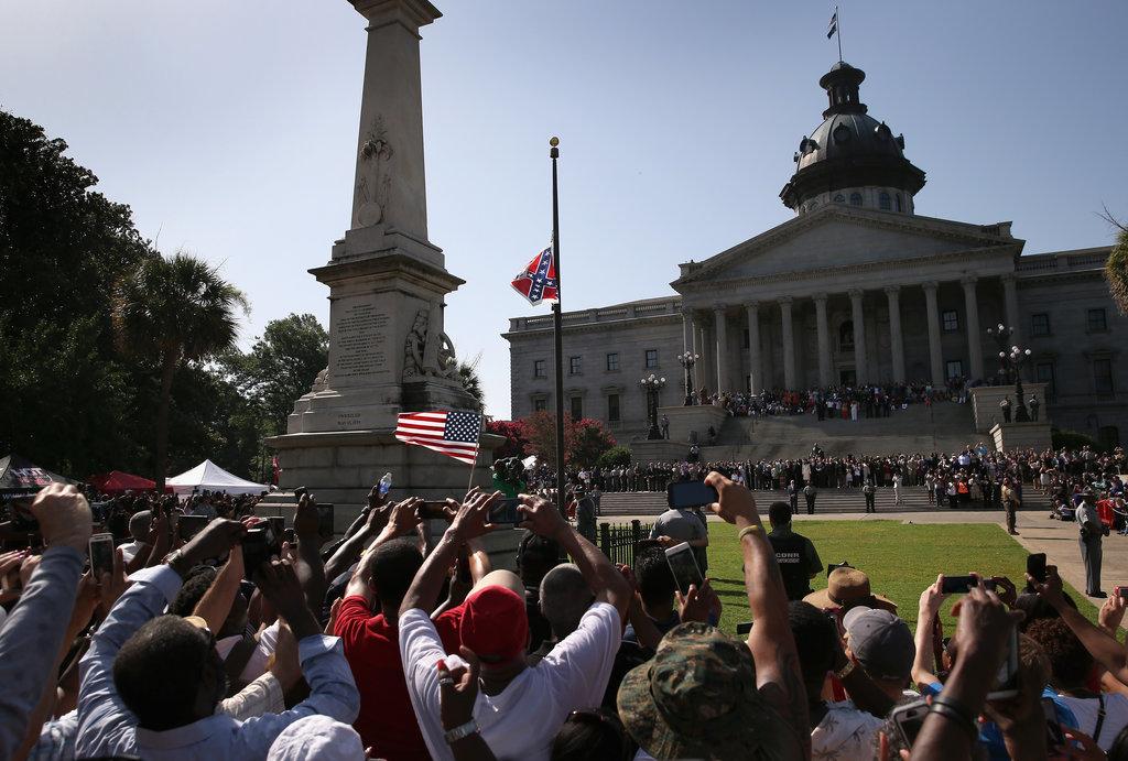 Removing confederate flag
