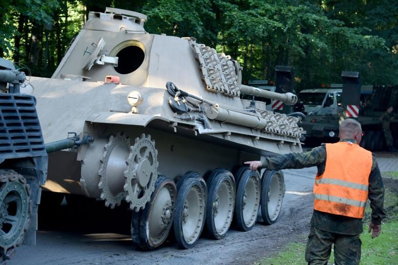 The Panther recovered seems to have its 75mm gun relatively intact, but is lacking its tracks