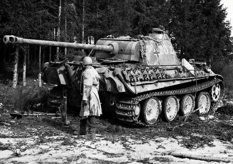 A Panther captured in France in 1944, for reference.
