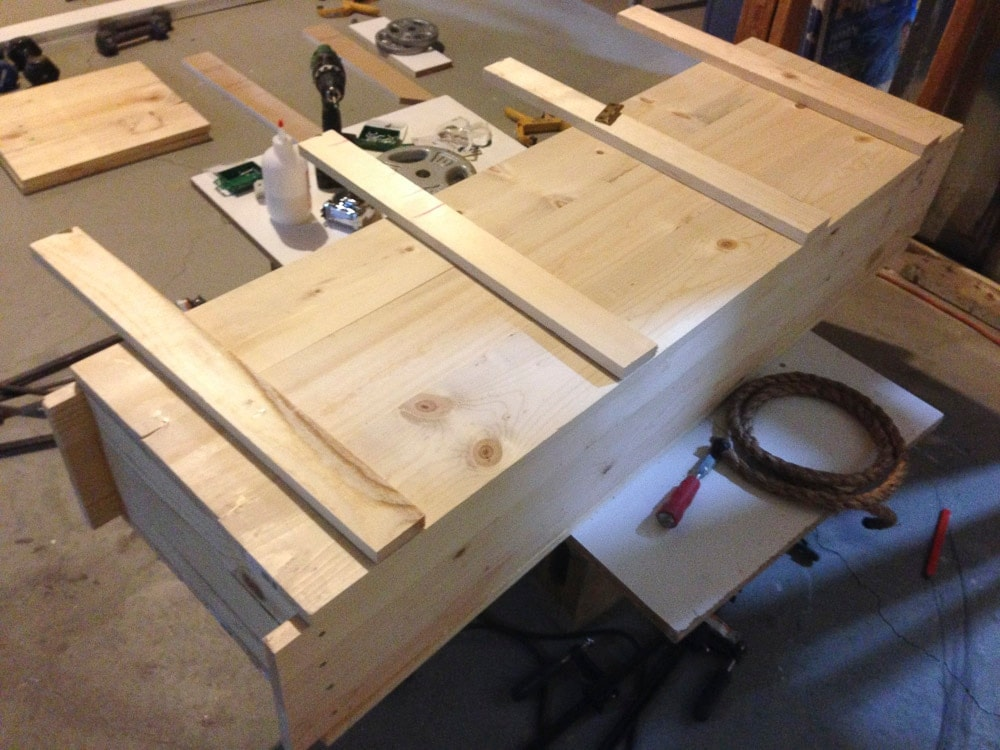 homemade gun chest