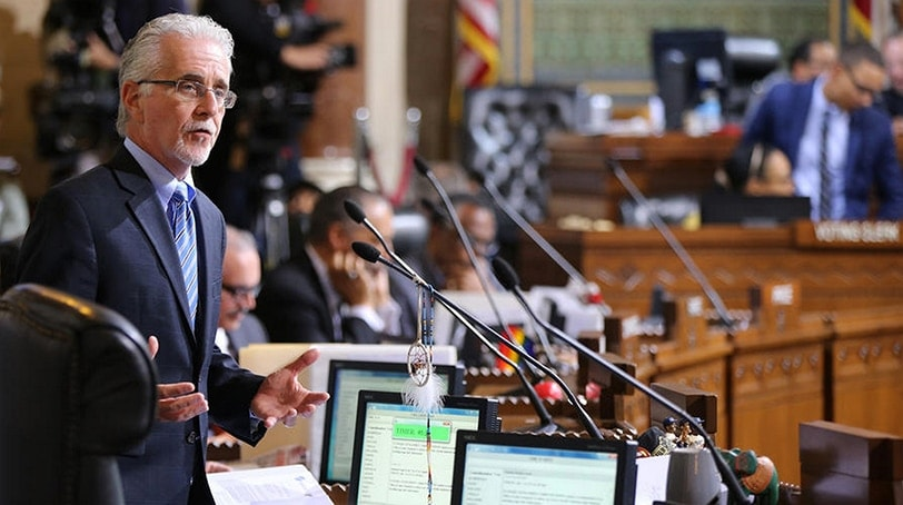Councilman Paul Krekorian, author of the two gun control measures, at a Los Angeles City Council meeting in May. (Photo: The Associated Press)