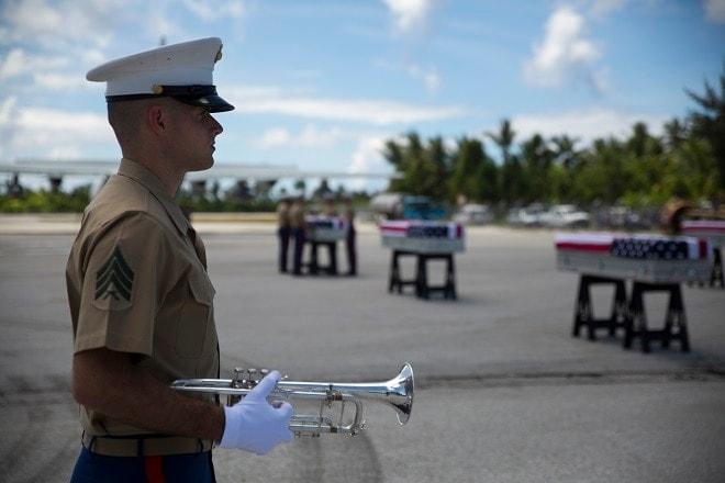 Tarawa Marines Return Home after 70 Years