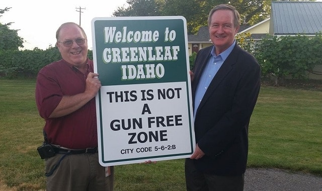not a gun free zone sign